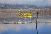 Dredging boats in the Columbia River. — Stock Photo