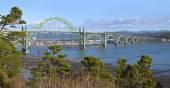 Yaquina Bay Bridge Newport Oregon — Stock Photo