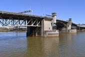 Morrison bridge Portland Oregon. — Stock Photo