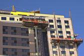 High rise construction Portland Oregon. — Stock Photo