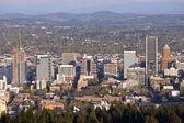 Portland Oregon city view at sunset. — Stock Photo