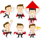 Set of businessman in different poses. manager. — Stock Photo