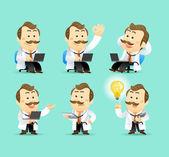 Sistema de médico de dibujos animados ilustración — Foto de Stock