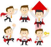 Businessmen set  illustration — Stock Vector