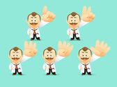 Cartoon Doctor set — Stock Vector