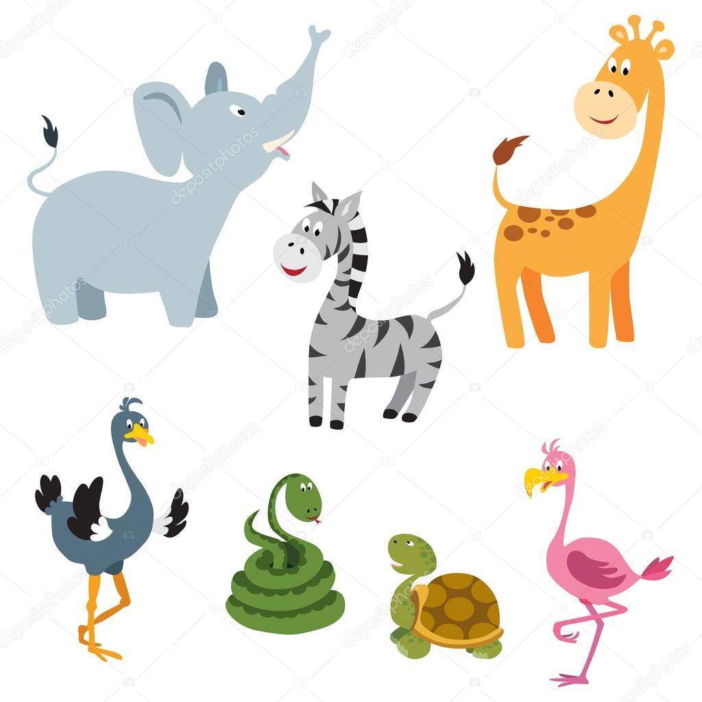 非洲动物设置 1