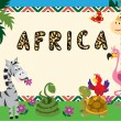 African Animals Card or Invitation — Stock Vector #55949145