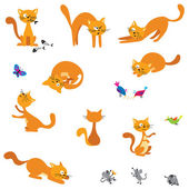 Cute Ginger Cats — Stock Vector