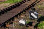 Vintage railroad switch — Stock Photo