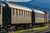 Vintage passenger coaches — Stock Photo