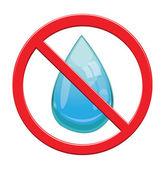 No Water drop sign icon. — Stock Vector