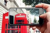 Smart phone mobile photo in London — Stock Photo