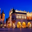 St. Mary's church in Krakow at night — Stock Photo #67267483