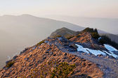 Mountain landscape with rock path — Stock Photo