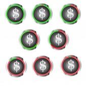 Dollarsymbol — Stok Vektör