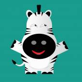 Tricky zeebra gartoon character — 图库矢量图片