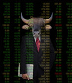 Bull market, stock investment concept — Stock Photo