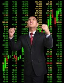 Business man in tock investment concept — Stock Photo