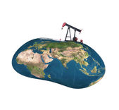 Pumpjack sucking the earth — Stock Photo