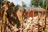 Häuser und wohnungen in dem dorf pomerini in tansania / afrika — Stockfoto