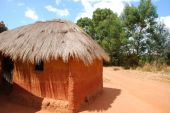 A typical house in the village of African Pomerini - Tanzania -  — Stock Photo