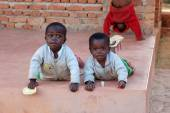 Smile to Africa-The smile of hope on the faces of African childr — Foto de Stock