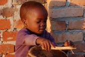 Smile to Africa-The smile of hope on the faces of African childr — Foto Stock