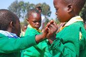 The play of kindergarten children of the Village of Pomerini-Tan — Stock Photo