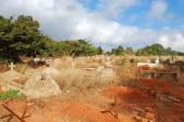 The impressive Cemetery of the Village of Pomerini -Tanzania - Africa — Stockfoto