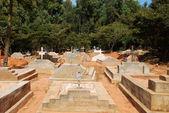The impressive Cemetery of the Village of Pomerini -Tanzania - Africa — Stock Photo