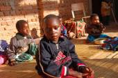 African children of the Franciscan Mission of the Village of Pom — Stock Photo
