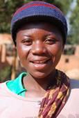 Afrykańskie dzieci cierpiących na Aids następuje non-profit — Zdjęcie stockowe
