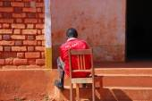 Loneliness and discomfort of a person with AIDS - Tanzania - Africa — Stock Photo