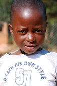 African children suffering from AIDS followed by the non-profit  — Stock Photo