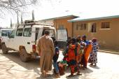 Transport of patients from the Hospital of the Village of Iringa — Stock Photo