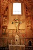 絵画やフィレンツェ、トスカーナ、イタリアのサンタ ・ クローチェ教会のフレスコ画 — ストック写真