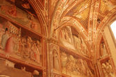 The paintings and frescoes of the Church of Santa Croce in Florence-Tuscany-Italy — Stockfoto