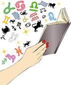 The book horoscope — Stock Photo