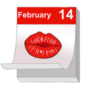 A kiss for Valentine's Day — Stock Vector