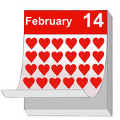 February 14, Valentine's Day, the day of love — Stock Vector