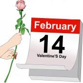 February 14, Valentine's Day — Stock Photo