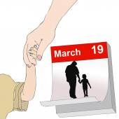 March 19, Feast of All Dad — Stock Photo
