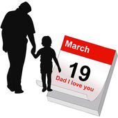 March 19, the Feast of All Dad — Stock Vector