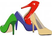 A set of women's shoes — Stock Photo