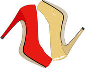 时尚和流行女鞋 — 图库照片