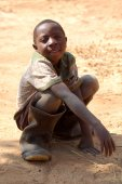 The look of Africa on the faces of children - Village Pomerini -Tanzania-Africa — Stock Photo