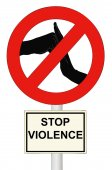 Stop the Violence — Stock Photo