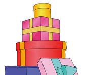 礼品和礼物的包裹 — 图库照片
