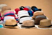 Market of Hats on Ground — Foto Stock