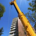 Heavy Hydraulic Crane on Blue Sky — Stock Photo #53657319